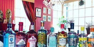 Gin selection at The Regency Tavern Brighton