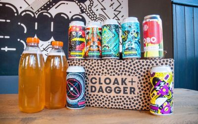 A picture of a variety of different Cloak and Dagger beers