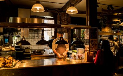 The Needlemakers chef making food
