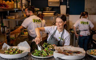 Zest staff preparing food